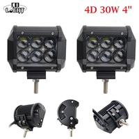 CO LIGHT 1 Pair 4 Inch Running Lights 30W 4D Projector 6000K Spot Beam Led Work