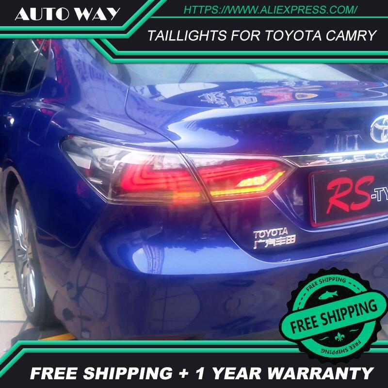 Étui de style de voiture pour Toyota camry RS-TUPE feux arrière 2018 DesignToyota camry LED feux arrière feux arrière tous LED