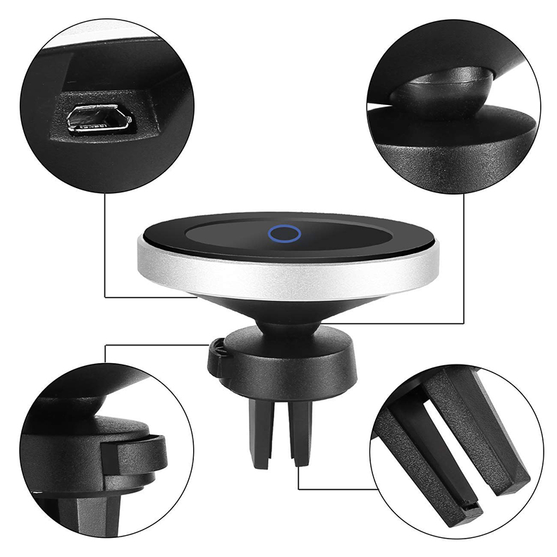 Qi Wireless Car Charger for iPhone XsXsMaxXr8plus Magnetic Phone Holder 10W Fast Car Wireless Charger for Samsung S9 S8 Note9 (4)