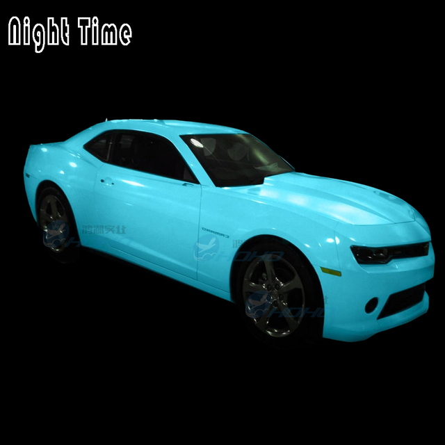 Glow in the Dark Car Wrap Vinyl 5ft x 6ft Roll with bubble and air Free  Channel Tech DIY f2d02692558e