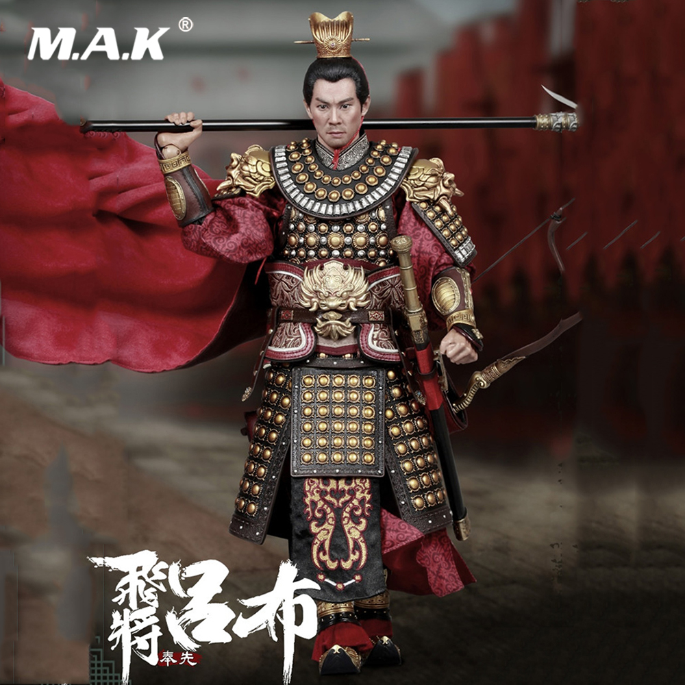 For Fan Collection Gifts 303TOYS 1/6 Full Set Three Kingdoms Series LVbu Red Rabbit War Horse with Flag Action Figure Model Toys
