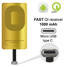 QI Receiver Type C For Google Pixel 2 2XL LG Stylo V20 G5 HTC 10 Nexus 6P OnePlus 3 5 Poco F1 TypeC QI Wireless Receiver Adapter(China)