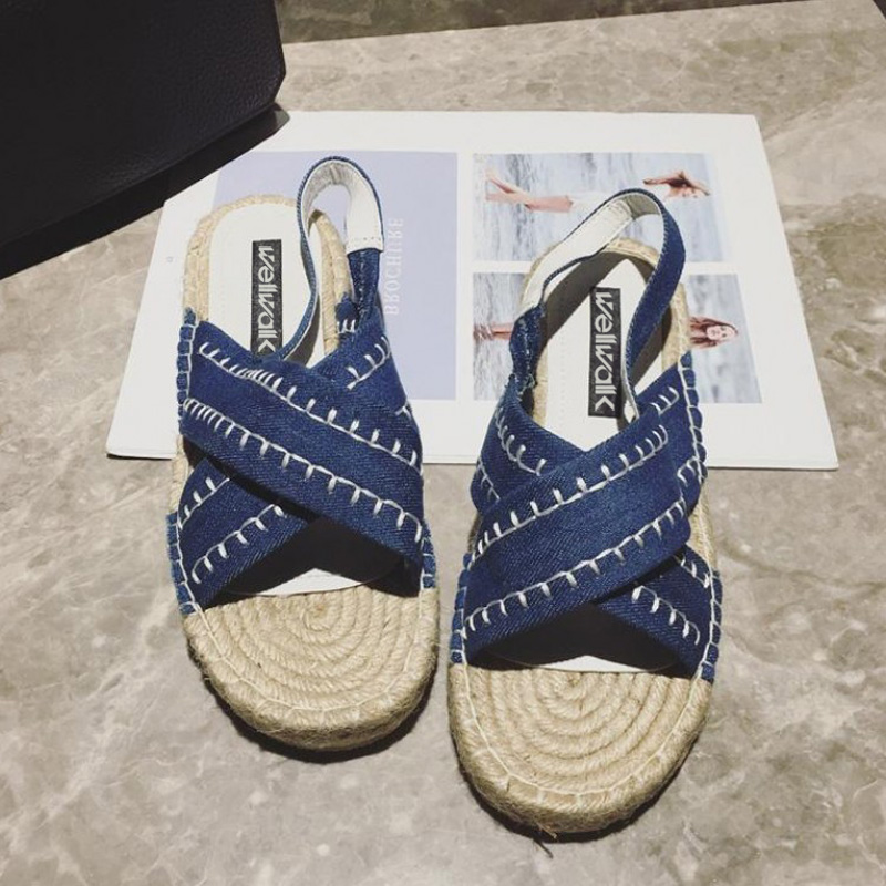 2018 Retro Women Fisherman Fashion Spring Autumn Sewing Sandals Summer Outside Causal Women Hemp Slippers Basic Shoes size 34-38