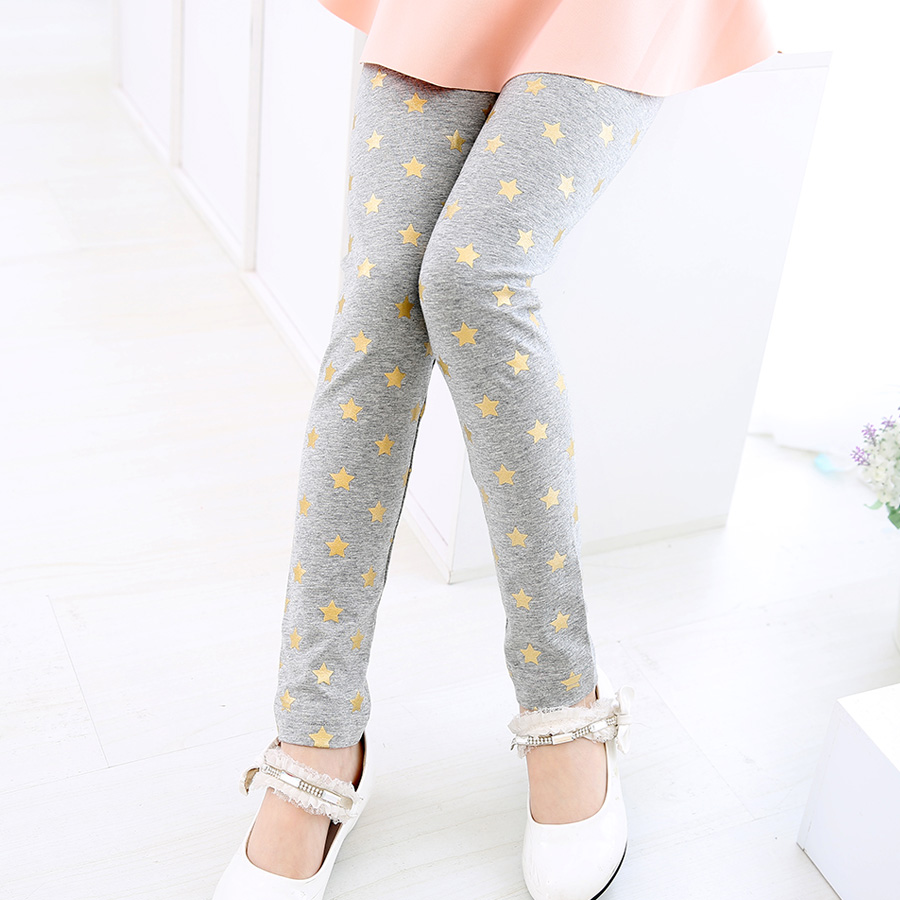 SheeCute Ny ankommer Cotton Girls leggings Kids Star Classic Leggings 3-11Ybaby piger leggings kids leggings SCA3305