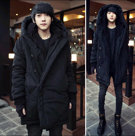 2018 Harajuku Brand Fashion Koren Warm Parka Winter Jacket Men Coat