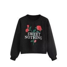 Plus Size Women Sweatshirt Streetwear Gothic Clothes Harajuku Valentines Day Womens Clothing Rose Printing Hoodies