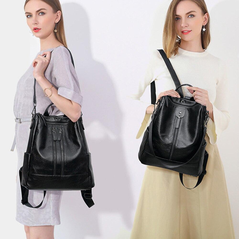 Women Handbag Female PU Leather Bags Handbags Ladies Portable Shoulder Bag Office Ladies Hobos Bag Totes 2