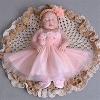 55cm Full body silicone reborn baby doll toys lifelike sleeping reborn princess girl babies brithday gifts bathe toy kids boneca