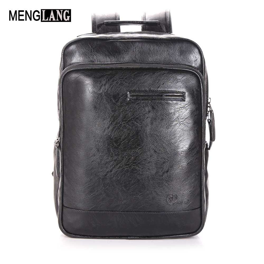 Genuine Leather Men Backpack Fashion Men Laptop Waterproof Backpack Luxury Male Schoolbag Bag High Quality Travel Bag For Men compact fashion waterproof men backpack