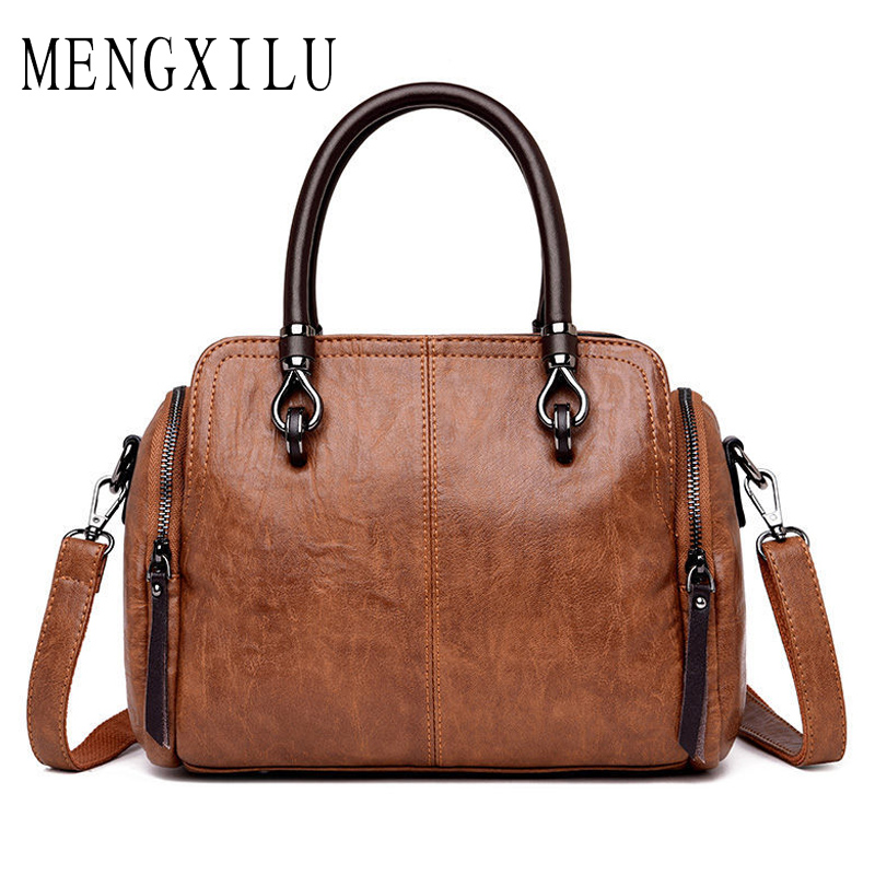Women Genuine Leather Handbags Women Messenger Bag Designer Crossbody Bags For Ladies 2018 Bolsa Feminina Tote Shoulder Bags Sac doodoo women messenger bags crossbody designer chain strap ladies shoulder bag bolsa feminina women bag pu leather wings package