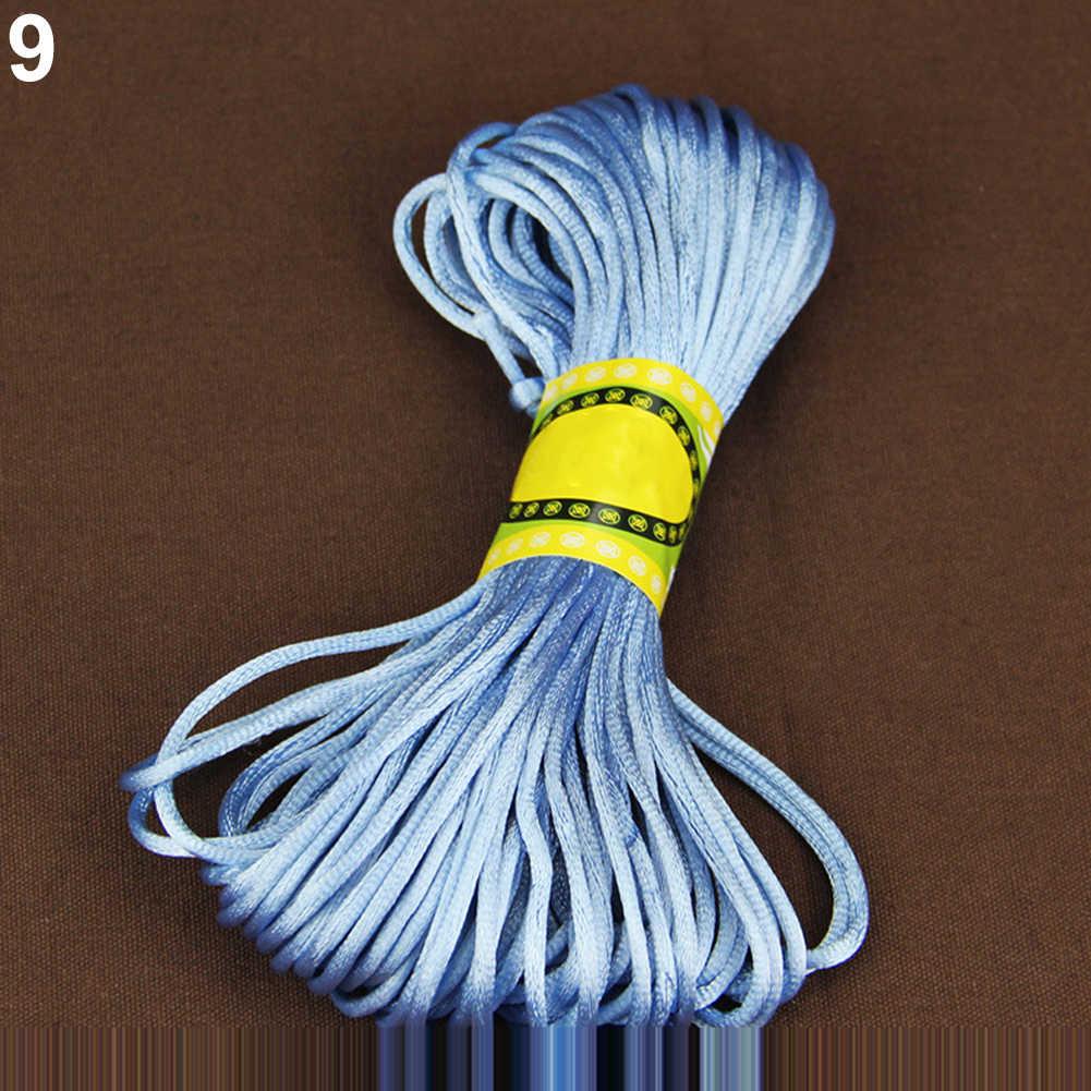 40# 20 Colors Nylon Cord Thread Chinese Knot Macrame Cord Bracelet Braided String DIY Tassels Beading Shamballa String Thread