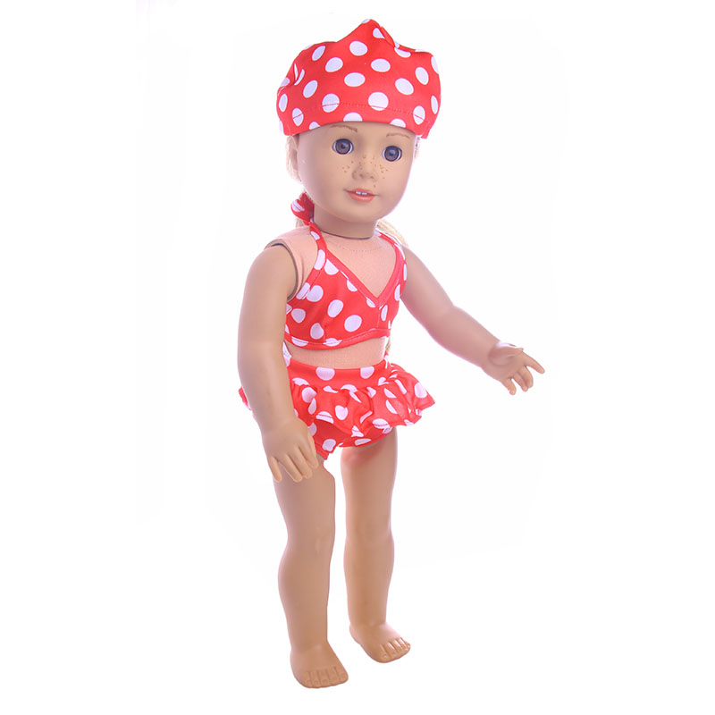 3 styles Swimsuit for 18 inch American girl doll for baby gift, 43cm Baby Born zap,Doll accessories high quality warm pink boots doll shoes for 18 inch american girl doll for baby gift