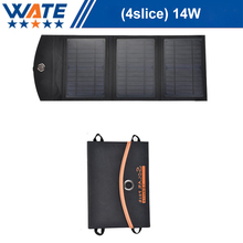 Folding solar charger, 14W single crystal silicon mobile phone, flat mobile power charge