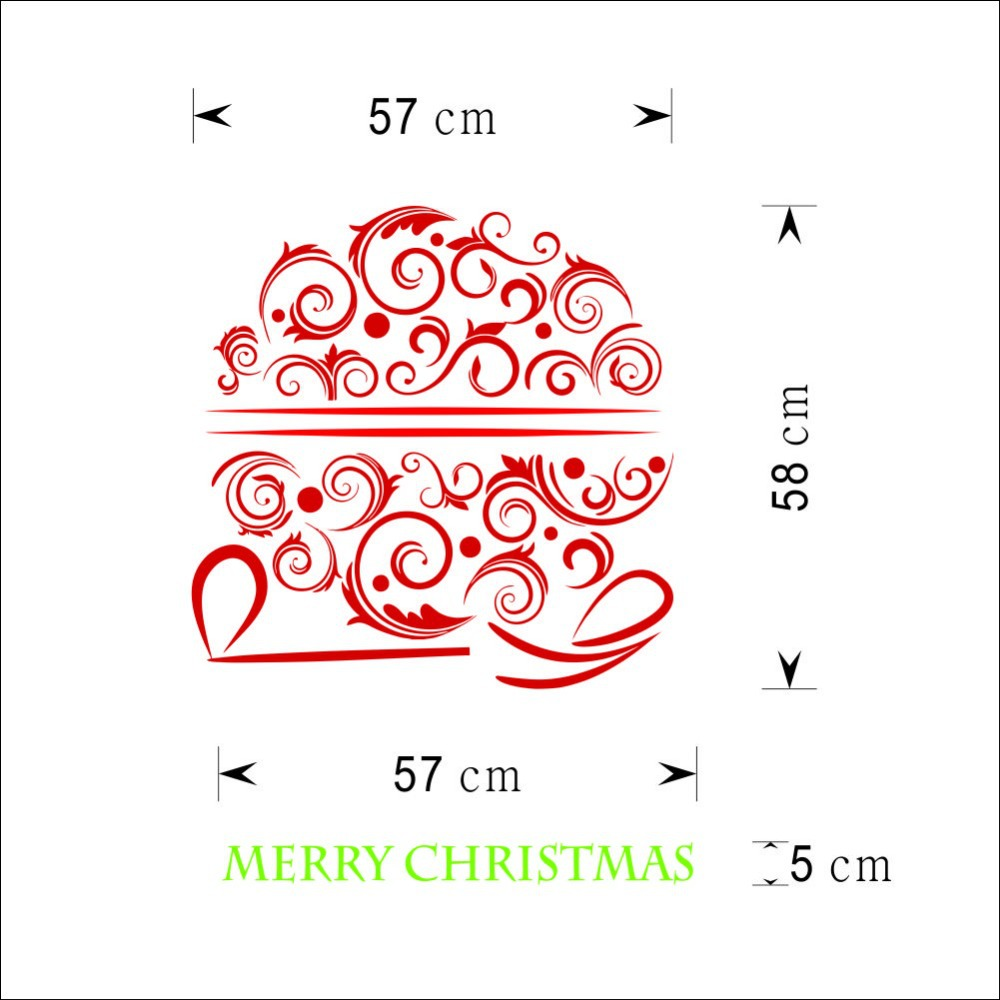 Merry christmas vinyl henna flower wall sticker removable merry christmas vinyl henna flower wall sticker removable christmas wall decal home decoration xmas house ornaments wall sticker in wall stickers from home amipublicfo Gallery