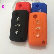 Silicone Car Key Case cover for Citroen Triunph Sega C2 C3 C5 C4 C6 C8 Picasso