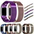 Qualidade Superior Milanese Stainless Steel Watch Strap Banda Pulseira + Filme HD Para Fitbit Carga 2 OCT5