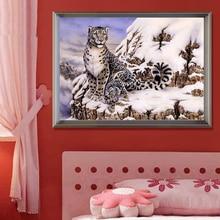 30*40 Diy Diamond painting snow tiger diamond cross stitch crystal square diamond embroidery sets unfinished decorative Painting
