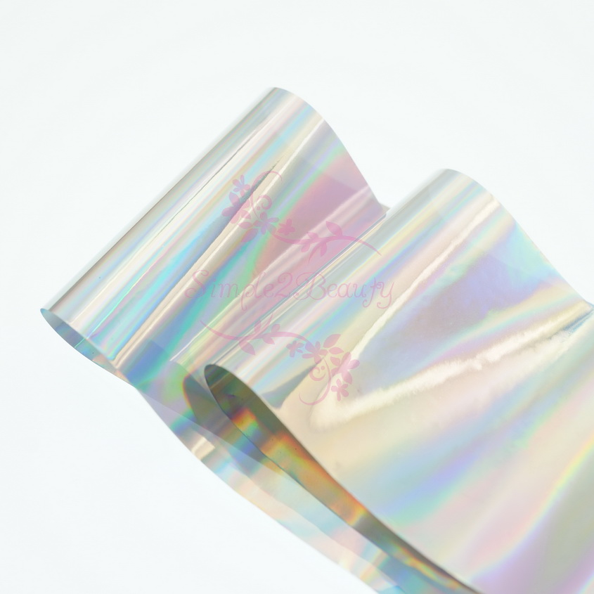 1 Roll 5CM*100M Holographic Broken Glass Mirror Foil Paper Film Candy Color Nail Art Manicure DIY Design Decorations Accessories nail transfer foil holographic green design foil roll star paper fashion nail art decoration diy accessories nail tools wy233