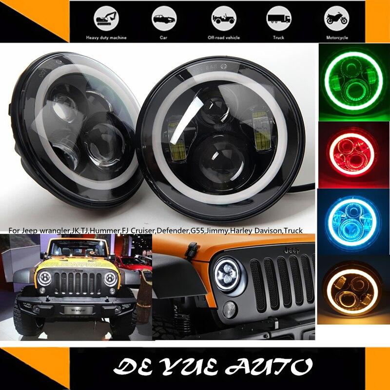 07-15 Wrangler Vorne Blinkergläser mit Bernstein LED Liegt unter Frontscheinwerfer für Jeep JK CJ Hummer