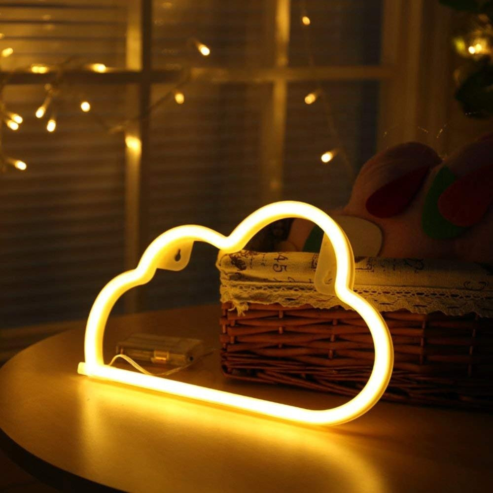 Desktop Decorative LED Cloud Neon Light For Children's Room Party Christmas Wedding Decoration Novelty Lighting