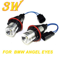 High Quality 2 3W 6W Bridgelux Chip LED Marker Angel Eyes XENON White For BMW