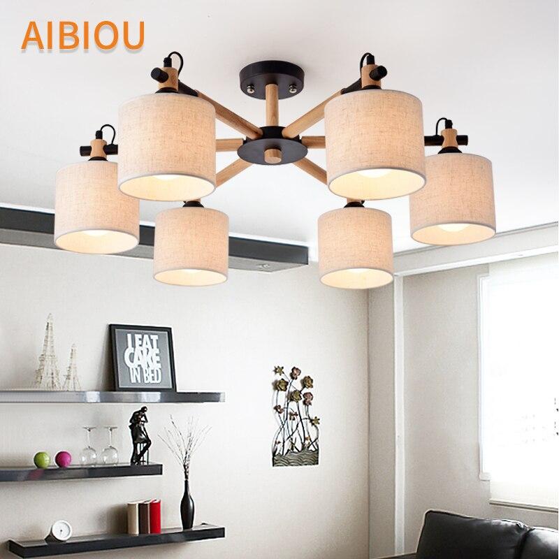 AIBIOU E27 люстра с ткани Абажуры для Гостиная элегантные люстры, ТКАНЬ Блеск Кухня светильники