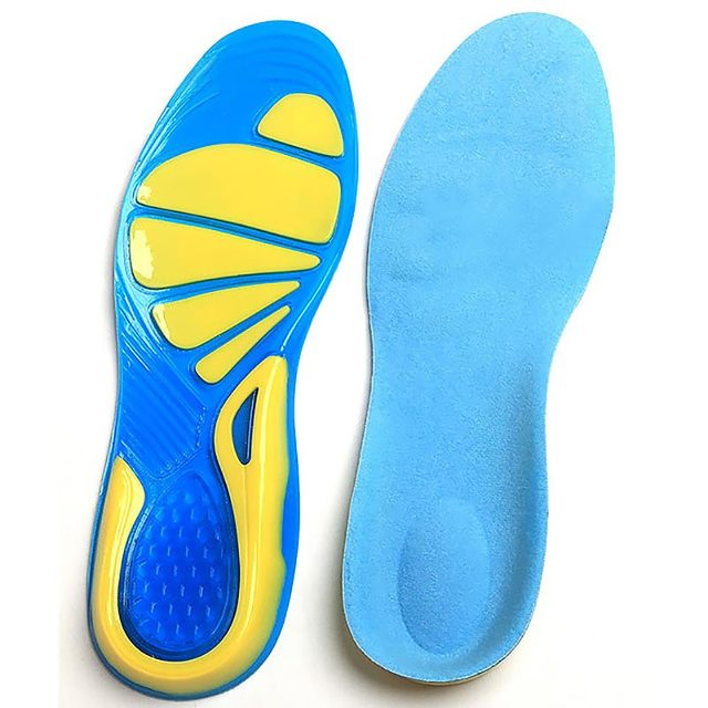 3c21f842d6 Running sport Insoles silicon gel Insoles foot care for plantar fasciitis  heel spur shock pads arch orthopedic insole orthotic