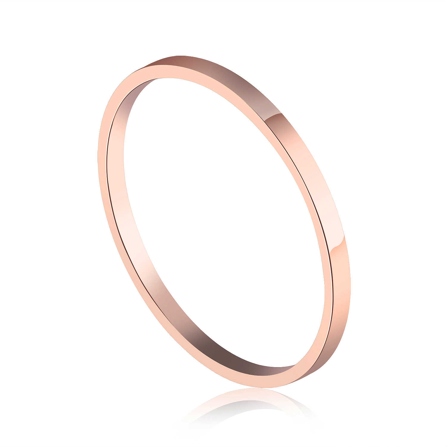 MAE Rose Gold Color Round Thin Titanium Stainless Steel Rings For Women Simple Style Fashion Jewelry Weding Rings