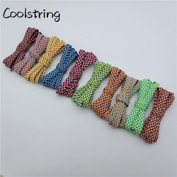 Coolstring/Новинка; 7 мм; высококачественные разноцветные парусиновые ботинки на плоской подошве из полиэстера; шнурки для повседневной носки; к...