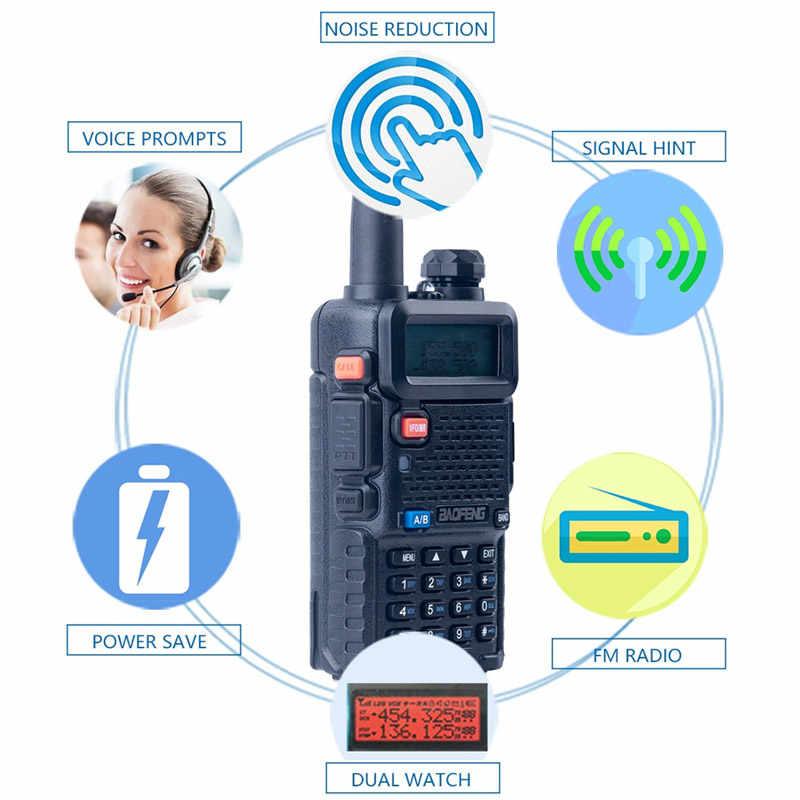 """Baofeng UV-5R иди и болтай Walkie Talkie """"иди и Dual Band UV5R портативный любительский радиопередатчик станции, портативные УФ 5R UHF VHF двухстороннее радио для охоты Ham радио"""