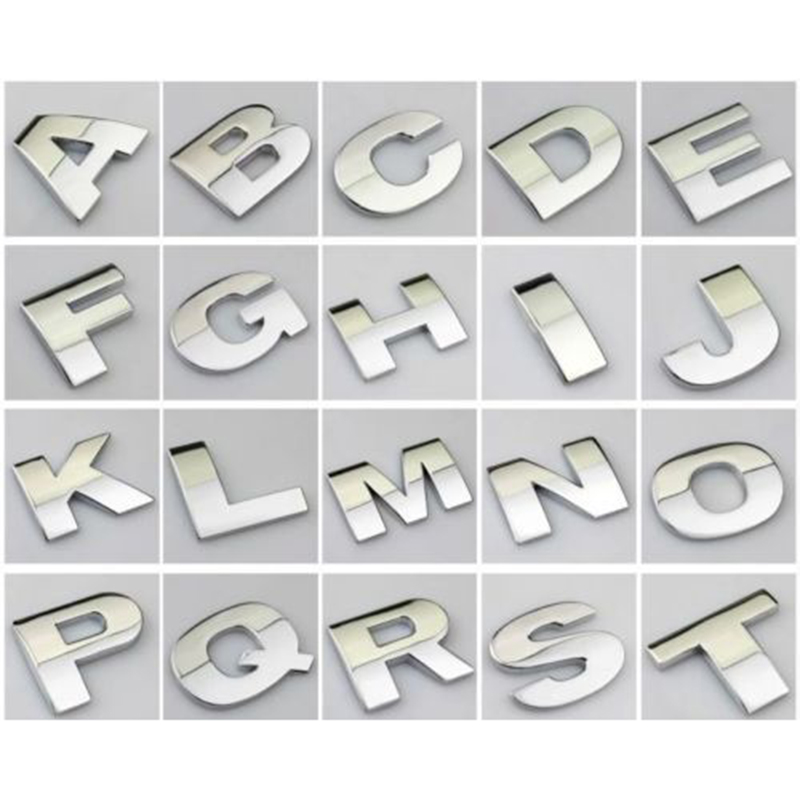aliexpresscom buy edfy 1pcs car auto chrome 3d arc letters for cars careful read item describe size 4040mm car decal car sticker free shipping from