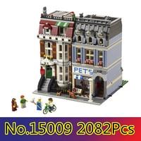 CX 15009 2082Pcs Model building kits Compatible with Lego 10218 City Street Creator Pet Shop 3D Bricks figure toys for children