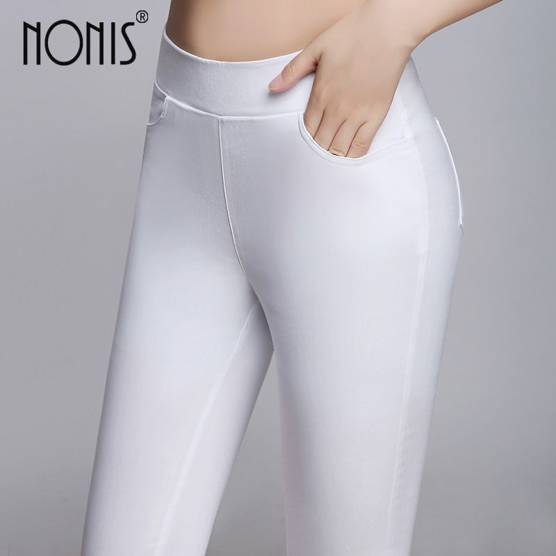 Nonis 2017 new Spring Summer Fitness Skinny pants cotton leggings Sexy eleven color plus size S- 3XL workout push up pink
