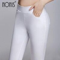 Nonis 2017 nowa Wiosna Lato Fitness Obcisłe spodnie bawełniane legginsy Sexy jedenaście kolorów plus rozmiar S-3XL workout biustonosz push up różowy