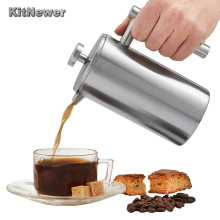 350ML 800ML 1000ML Delicate Coffee Maker Stainless Steel French Press Coffee Tea Pot with Filter Double Wall