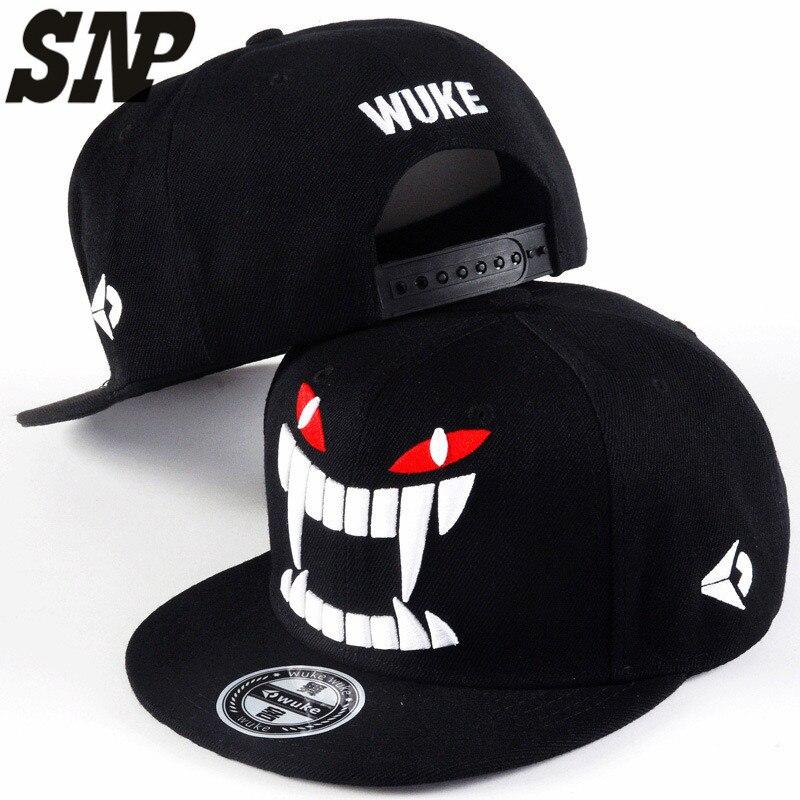 Big Teeth Gravity Falls Unisex Snapback Hat Hip Hop Flat Brim Adjustable Baseball Cap