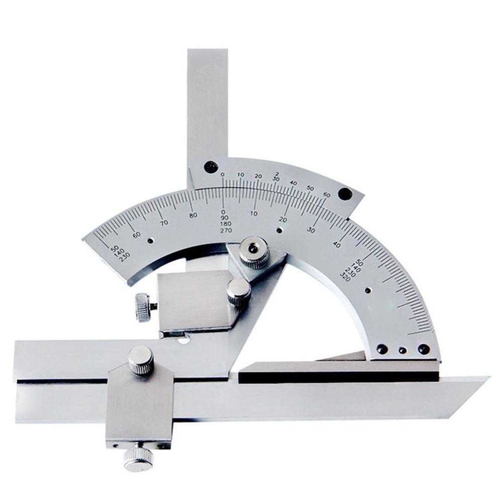 Universal Bevel Protractor 0-320 Degrees Precision Angle Ruler Measuring Finder Ruler Adjustable Vernier Protractor 1pc