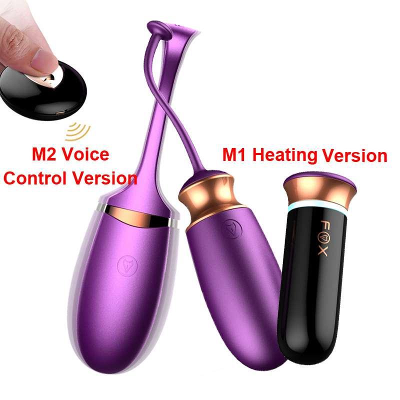 FOX Smart Heating Wireless Voice Control Vibrating Egg Remote Control 10 Mode G-Spot Vibrator Sex Products Sex Toys for Women
