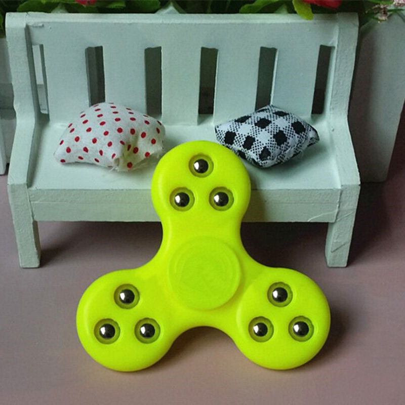 Plastic EDC Fidget Hand Spinner Toy 3D Focus Fidget Toys Stress Reliever Children Gift