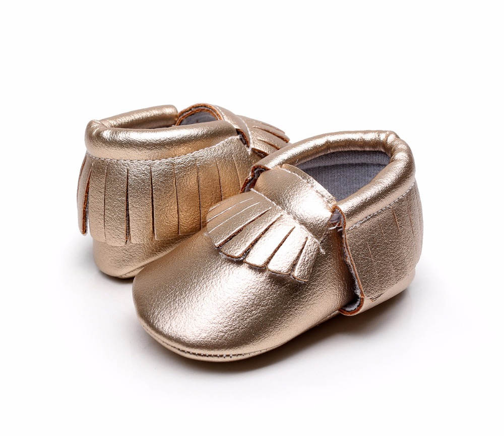 b2b81f4bb52c7 US $6.0 |New gold pink orange Newborn Baby Moccasins Soft Moccs Kids Shoes  Baby Prewalker Tassels PU Leather Shoes First Walkers-in First Walkers from  ...
