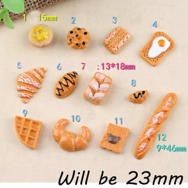 CCINEE Buttered Bread Resin Multiple Styles Diy Resin Accessories DIY Craft Supplies