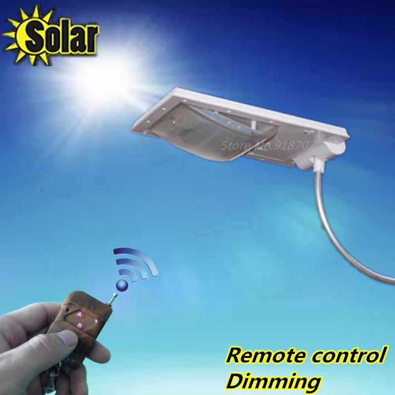 ФОТО 2016NEW Remote control Dimmer 24 LEDs Solar Street Light Solar Lamp Garden waterproof Sensor Security Adjustable Spot Lighting