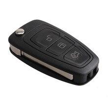 3 кнопки Замена Автозапуск fob Флип складной удаленный ключевой 433 мГц 4D63 чип для Ford Focus Fiesta с HU101 лезвие ключа автомобиля