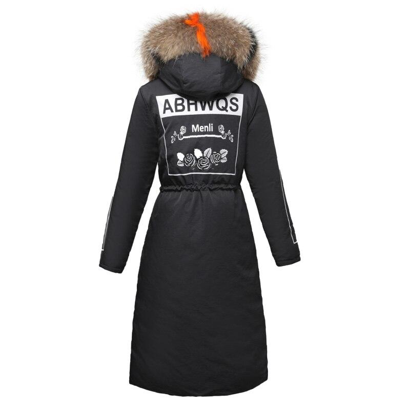 D'hiver Kuyomens Épaissir Taille ivoire Parka Grande 2018 Veste À Noir Mode Chaud Manteau Femme marron Col Survêtement Fourrure Nouvelle De Capuche rouge 5qgwaqOpBr