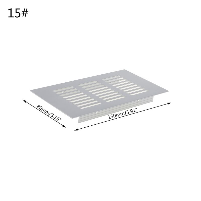 Multi size Aluminum Alloy Air Vent Perforated Sheet Web Plate Ventilation Grille 2