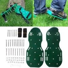 1 пара садовый культиватор скарификация газовый аэратор обувь с шипами инструмент X7YD