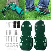 1 Pair Garden Yard Grass Cultivator Scarification Lawn Aerator Nail Shoes Tool X7YD