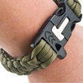 Outdoor Camping Survival Gear Buckle Travel Kit Equipment Paracord Rescue Rope Escape Bracelet 4 in 1 Flint Fire Starter Whistl