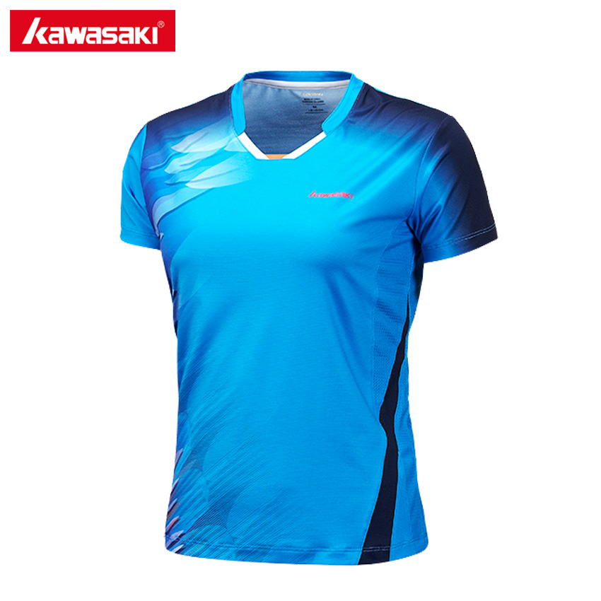 Kawasaki Badminton T Shirts Table Tennis Training Clothes Breathable Quick Dry T-Shirt for Woman Women ST-172016