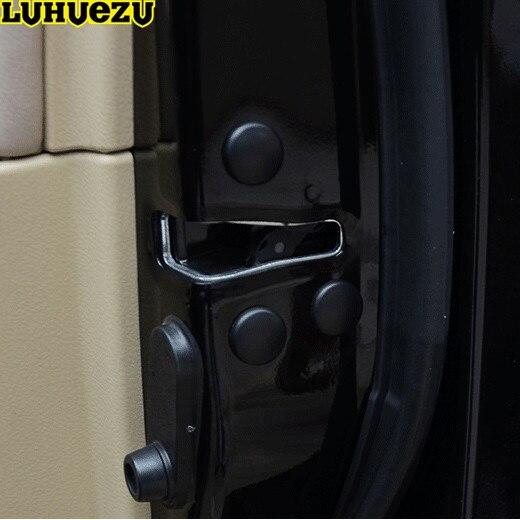 Luhuezu 12 PCS Serrure De Porte Vis Protecteur Couverture Pour Toyota Land Cruiser 200 Prado FJ150 RAV4 Corolla Camry Highlander Accessoires
